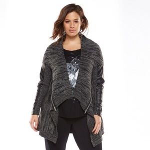 [Rock & Republic] Edgy Open Front Cardigan